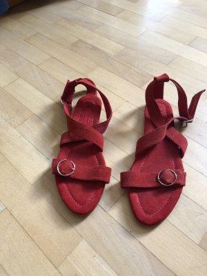 Neuwertige Rote Sandalen von Zara