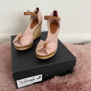 Tommy Hilfiger Wedge Sandals light pink-light brown cotton