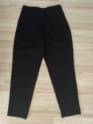 Neuwertige schwarze highwasted Stoffhose Anzugshose von Zara M 38