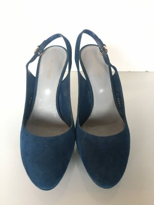 Sergio Rossi Slingback Pumps dark blue