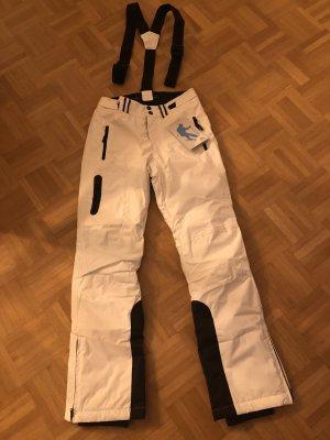 Pantalón de esquí blanco-negro