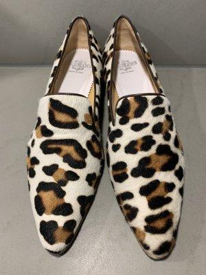 NEUWERTIGE Slipper Leopardenmuster aus Kuhfell von TRUMAN'S Gr. 37,5
