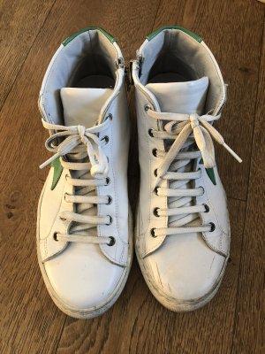 Neuwertige Sneaker von LAZAMANI in Gr. 40 weiß grün