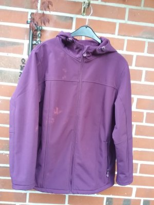 Chaqueta softshell violeta oscuro