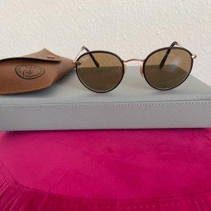Ray Ban Gafas de sol redondas marrón-color oro