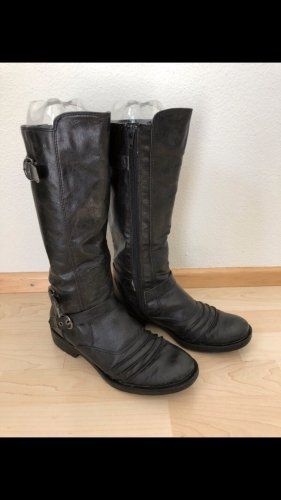 Buty zimowe czarny-srebrny