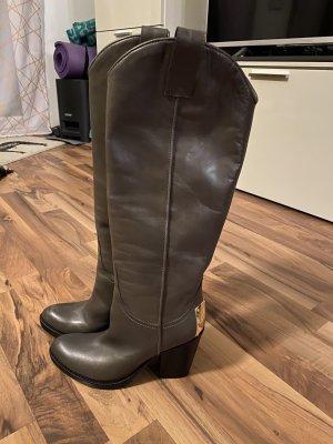 Baldan Heel Boots grey brown-taupe