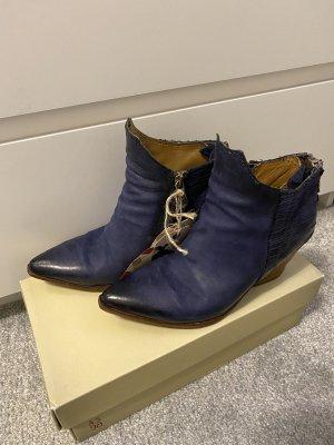 A.S.98 Botas con cremallera azul oscuro
