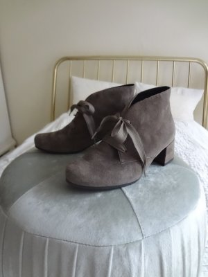 Semler Lace-up Booties grey brown leather