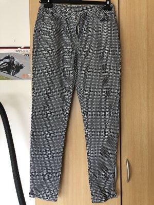 Flame Pantalon en jersey noir-blanc