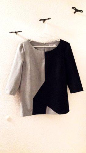 Neuwertige Stylische Bluse in schwarz/grau von Promiss, Gr. 36
