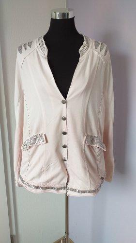 Tredy Chaqueta estilo camisa blanco puro-rosa
