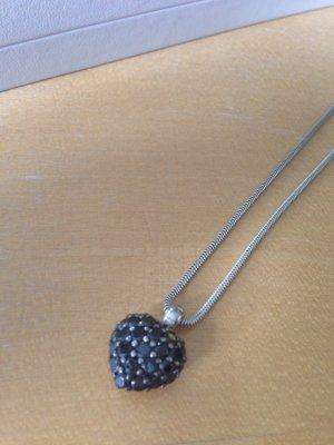 Neuwertige Thomas Sabo Silberkette mit Herzanhänger