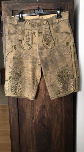 MarJo Pantalón de cuero tradicional multicolor