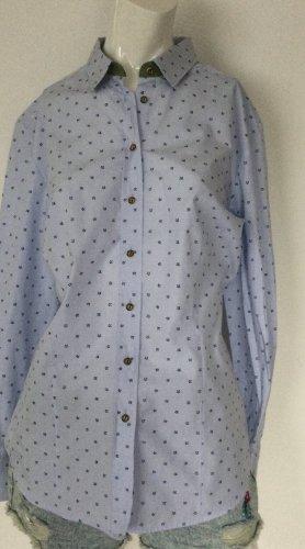 Arido Folkloristische blouse azuur-donkerblauw Katoen