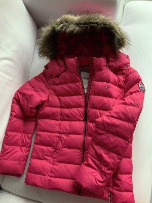 Neuwertige und wunderschöne Daunenjacke von Tommy Hilfiger Denim in Pink