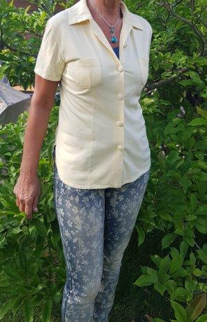 Neuwertige weiche Jerseybluse in Sommerfarbe