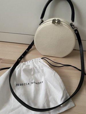 Neuwertige weiße Schwarze Umhängetasche von Rebecca Minkoff