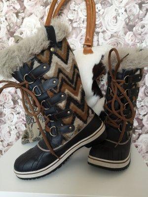 Sorel Lace-up Boots cognac-coloured mixture fibre