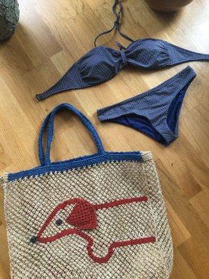 Quicksilver Bikini dark blue-white mixture fibre