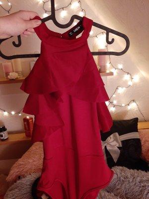 Blusa tipo body rojo oscuro