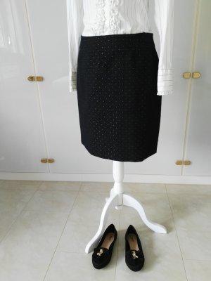 More & More Tweedowa spódnica złoto-ciemnoniebieski