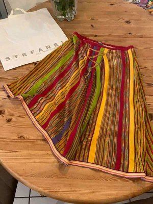 Stefanel Asymmetry Skirt multicolored viscose