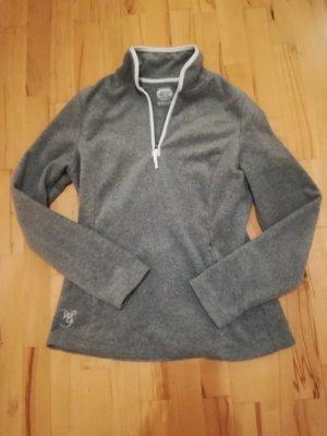 Tchibo / TCM Polarowy sweter jasnoszary-biały