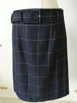 Hallhuber Tweed Skirt dark grey-dark blue