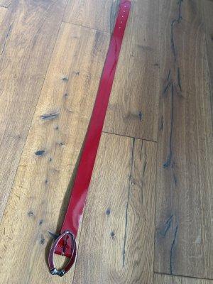 More & More Cinturón de cuero rojo Cuero