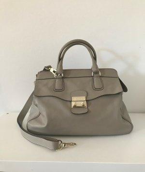 abro Handbag silver-colored-grey brown leather