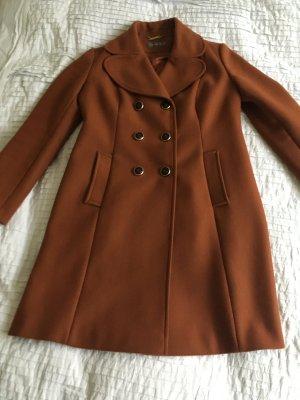 Hallhuber Donna Abrigo de lana naranja oscuro Lana