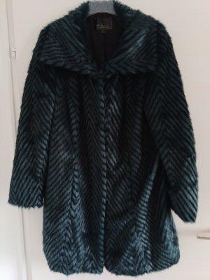 bpc bonprix collection Płaszcz zimowy czarny-turkusowy