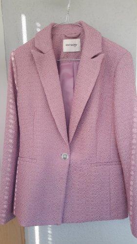 Orsay Blazer Tweed color rosa dorado-malva