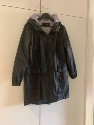 Zara Basic Manteau de pluie noir-blanc