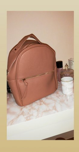 Bershka Backpack Trolley rose-gold-coloured