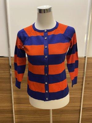 KAREN MILLEN Ensemble pull deux pièces bleu foncé-orange