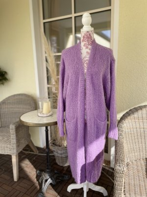 Knitted Coat purple