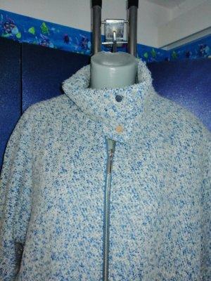 C&A OUTERWEAR Krótki płaszcz niebieski neonowy-w kolorze białej wełny