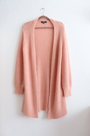 Missguided Knitted Coat pink-salmon
