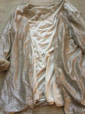 NEUwertiges Cardigan Set, goldig, 2 Teile, Hingucker, Intimissimi, Ausgehoutfit