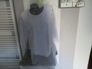 Top maillé blanc polyester