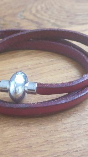 Antonio Ben Chimol Leather Bracelet dark red