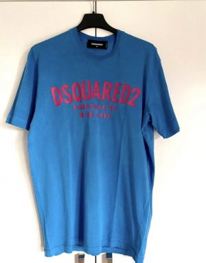 Dsquared2 T-shirt blu-rosso