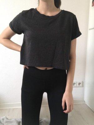 Neuwertiges, dunkelgraues, cropped T-Shirt von G-Star