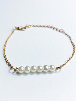 Bracelet doré-blanc