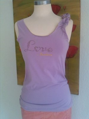 Moschino Cheap and Chic Top à volants violet