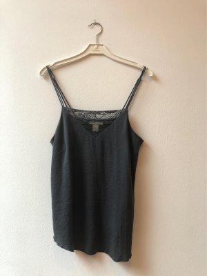 H&M Lace Top dark grey