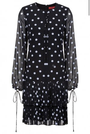 Hugo Boss Chiffon Dress black-white
