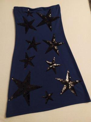 Neuwertiges Kleid mit schwarzen Sterne